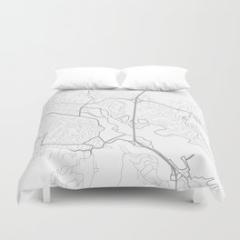 MILL VALLEY Map Print Duvet Cover