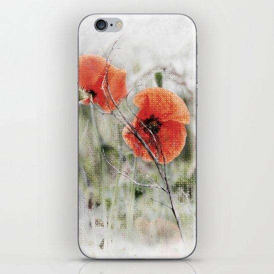 Poppies(mist). iPhone & iPod Skin