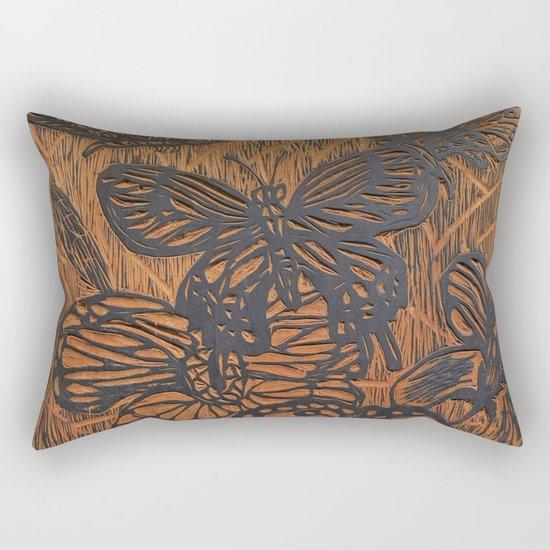 Flowers and Butterflies Rectangular Pillow
