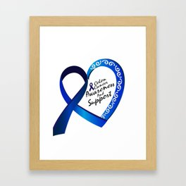 Colon Cancer Suppor Gifts Framed Art Print