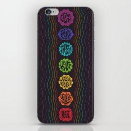 Rainbow Chakras iPhone Skin