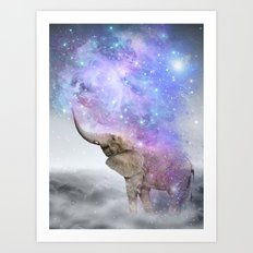 Don't Be Afraid To Dream Big • (Elephant-Size Dreams) Art Print