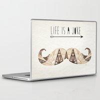 moustache Laptop & iPad Skins featuring moustache by Manoou