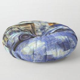 New York police Department Van Gogh Floor Pillow