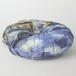 New York police Department Van Gogh Floor Pillow