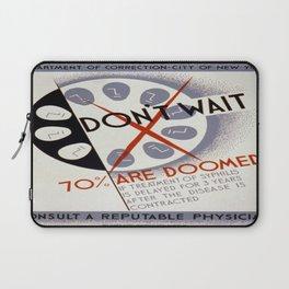 Vintage poster - Don't Wait Laptop Sleeve