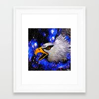 eagle Framed Art Prints featuring Eagle by Saundra Myles