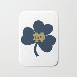Notre Dame on Blue Clover Bath Mat