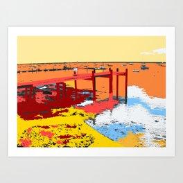River Jetty Art Print