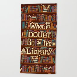 Go to the library Beach Towel