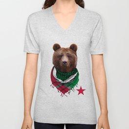 California Republic Bear Men's and Women's T-Shirt Unisex V-Neck