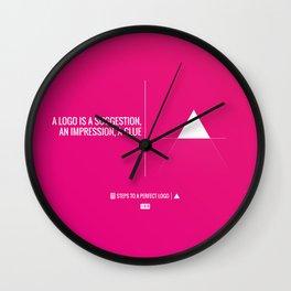 Perfect Logo Series (6 of 11) Wall Clock