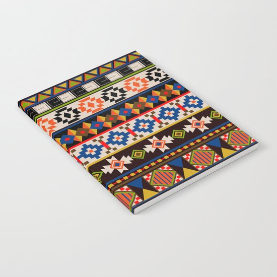 Colourful tribal Aztec patterns Notebook