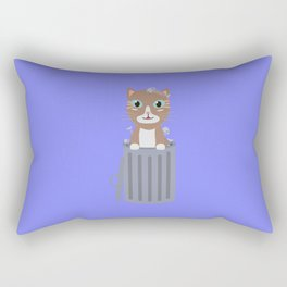 Cute Cat In the trash can   Rectangular Pillow