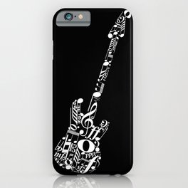 Musical guitar - inverted iPhone Case