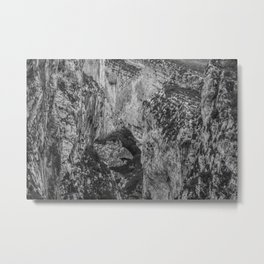 French Gorges in the winter [black and white] Metal Print