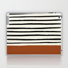 Burnt Orange x Stripes Laptop & iPad Skin