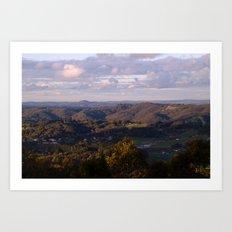 View from Mt Lofty Art Print
