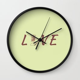 Love Sew Sewing Is Life Wall Clock