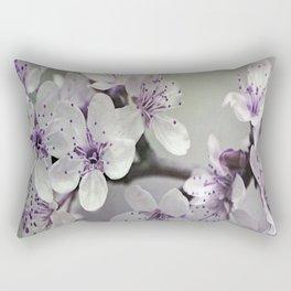 Misty Flowers Rectangular Pillow