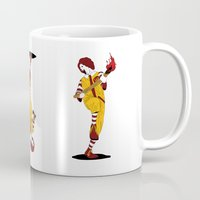 french fries Mugs featuring McDonald's Burn French Fries by pexkung