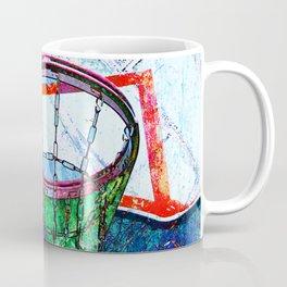 Basketball Hoop, BBall Art, Modern Sports Artwork Coffee Mug