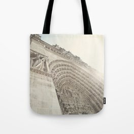 Bathed in sunlight at the Notre Dame, Paris, France Tote Bag
