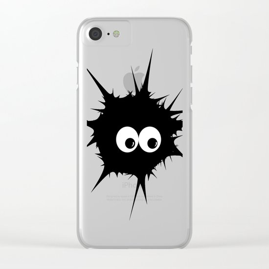 Cute monster furry Clear iPhone Case