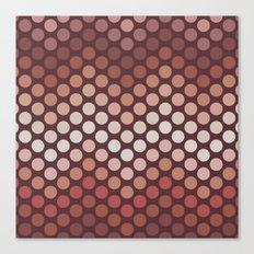 Dot Chevron: Earth tones  Canvas Print