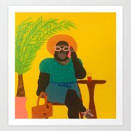 Gloria Gorilla Art Print