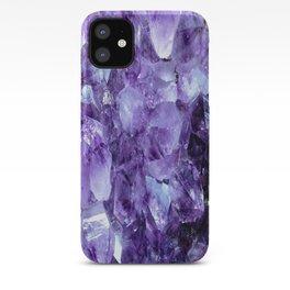 Amethyst Crystals iPhone Case