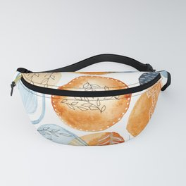 Watercolor improvisation 14 Fanny Pack