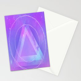 Galaxy triangle Stationery Cards