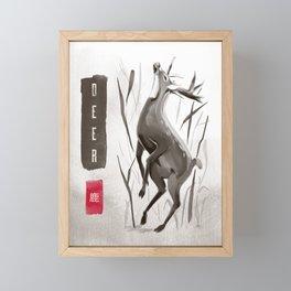 Majestic Forest Deer Elk  Framed Mini Art Print