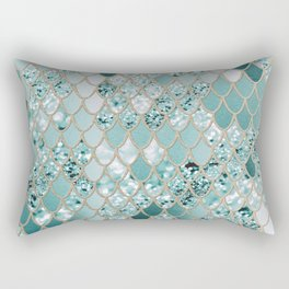 Mermaid Glitter Scales #3 #shiny #decor #art #society6 Rectangular Pillow