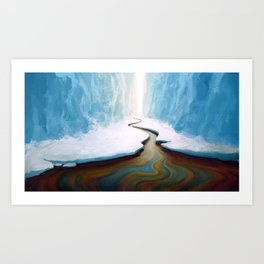 Ice and Oil Art Print