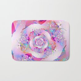 First Rose Abstract Fractal Art Bath Mat