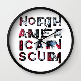 North American Scum Wall Clock