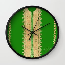 Thoub Nashil - Green  Wall Clock