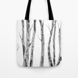 Birch Trees | Indian Ink Illustration | Canadian Art Tote Bag