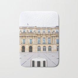 Buren's Columns, Le Palais Royal Courtyard, Paris, France Bath Mat