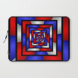 Colorful Tunnel 3 Digital Art Graphic Laptop Sleeve