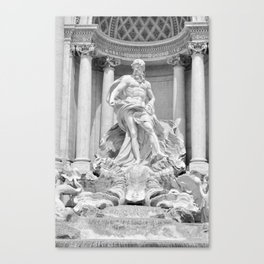Postcards from Italy: Fontana Di Trevi Canvas Print