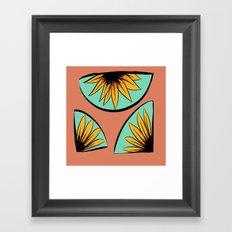 sunflower pieces  Framed Art Print