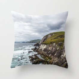 Exploring the Sleahead Trail - Dingle, Ireland Throw Pillow