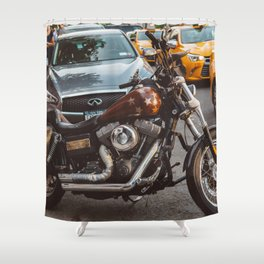 Vintage Motorcycle Shower Curtains