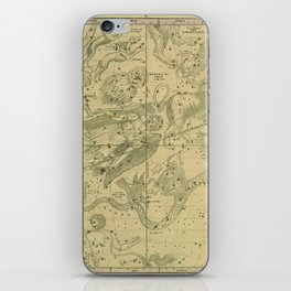 Antique Celestial Map June May April iPhone Skin