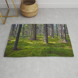 The Forest Floor in Jasper National Park, Canada Rug