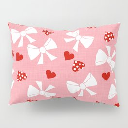 Lace gift wrap pink Pillow Sham