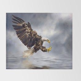 Bald Eagle swooping Throw Blanket